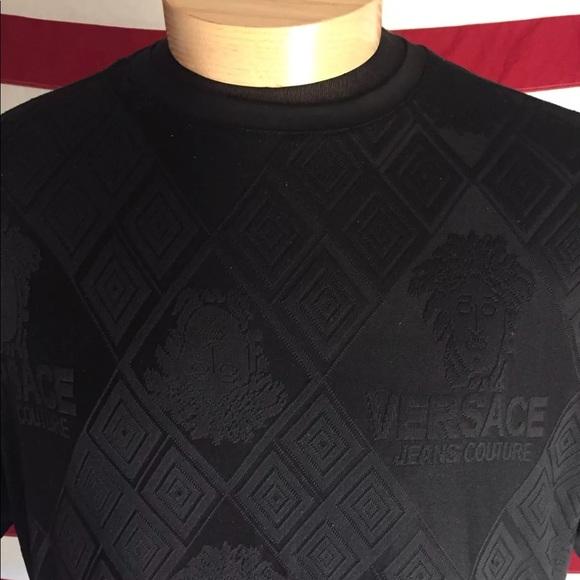 bb1ccfc1 Versace Shirts | Vintage Monogram Black Medusa Shirt Xxl | Poshmark